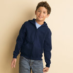 Heavy Blend™ Youth Full Zip Hooded Sweatshirt