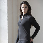 Women's long sleeve stretch polo