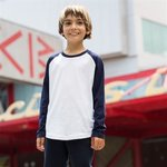 Kids long sleeve baseball T
