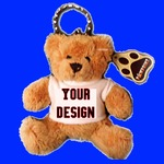 Personalised Mini Teddy Bear Keyring