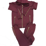 Burgundy Tracksuit- Customisable