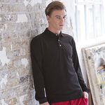 Long sleeve cotton polo