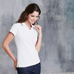 Women's constrast short sleeve polo