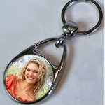 Keyring 30 mm aluminium circle